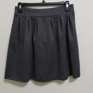 Herringbone patterned circle skirt